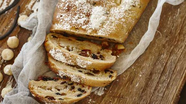 Stollen with macadamia marzipan