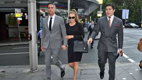 Sarah Jane Chisholm Rogers (middle) had previously denied three charges related to her giving evidence to the Australian Commission for Law Enforcement Integrity about her employment.