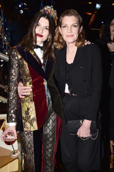 Rose Gilroy and mother Renee Russo at Dolce & Gabbana
