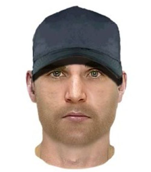 A facial composition of the man police are searching for. (Victoria Police)