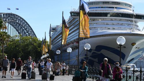 The Ruby Princess in Sydney on March 19.