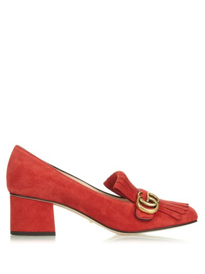 """<a href=""""http://www.matchesfashion.com/products/1034288"""" target=""""_blank"""">Loafers, $840, Gucci at MatchesFashion.com</a>"""
