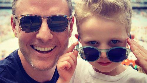 Fordham with son Freddy.
