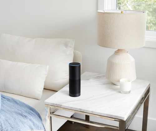 Amazon's home assistant technology also comes in two other forms - the Echo Plus will be a larger version (Supplied).