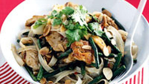 Vietnamese chicken noodle stir-fry