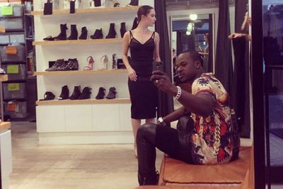 @timomatictheone: Chillin at @tuchuzystore as @taliafowler1 does her fashion killa thing. The new Miley album #bangerz is bumpin and I gotta admit......It's pretty damn good! #greatproduction. #bfduties