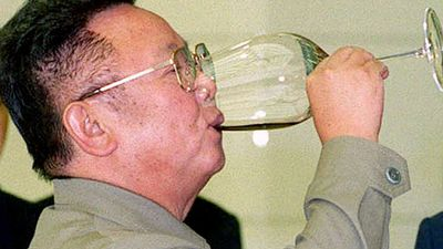 <p><b>Kim Jong Il: Superhuman</b></p>State media said Kim Jong Il never needed to urinate or defecate. Which was a feat considering his court spent up to $800,000 a year on Hennessey cognac. (AP)