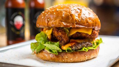 "Recipe: <a href=""http://kitchen.nine.com.au/2017/06/23/15/30/streets-of-rage-8bit-limited-release-hot-sauce-burger"" target=""_top"" draggable=""false"">8bit Streets of Rage burger</a>"