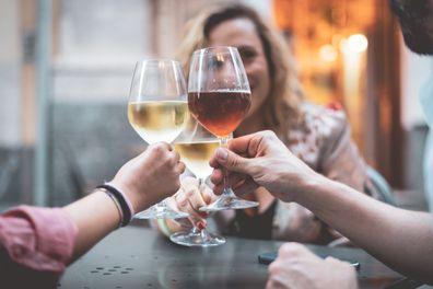 Group having wine