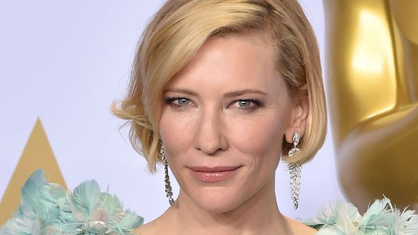 Cate Blanchett #neck and jaw goals. Image: Getty.