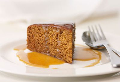 Ginger sticky date pudding