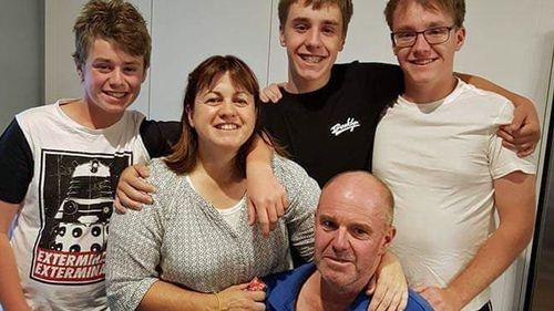 Steve Dalitz (bottom right) with his family.