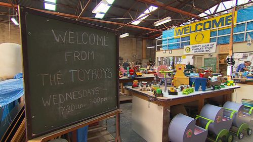 The charity toymakers have been making Christmas gifts for 26 years.