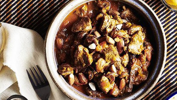 Tony Carroll's goat tagine with almonds