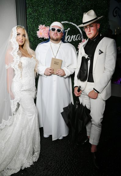 Jake Paul and  Tana Mongeau get married at Graffiti House on July 28, 2019 in Las Vegas, Nevada.