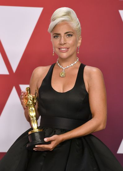Lady Gaga, Oscars, trophy, Best Original Song, Shallow