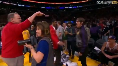 Red Hot Chilli Peppers' frontman goes beserk after Lakers/Rockets bust up
