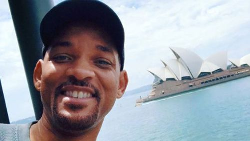 Actor Will Smith has embraced Instagram on his trip to Sydney. (Instagram)