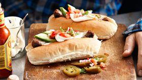 Mexican chorizo hot dogs