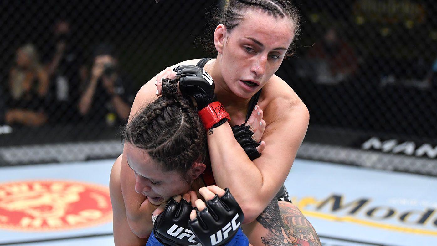 Australian UFC star Casey O'Neill chokes opponent unconscious in Las Vegas victory