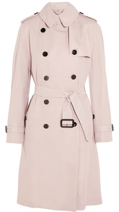 "<a href=""http://www.net-a-porter.com/product/495474/Burberry_London/gabardine-trench-coat"">Gabardine Trench Coat, $2270.85, Burberry</a>"
