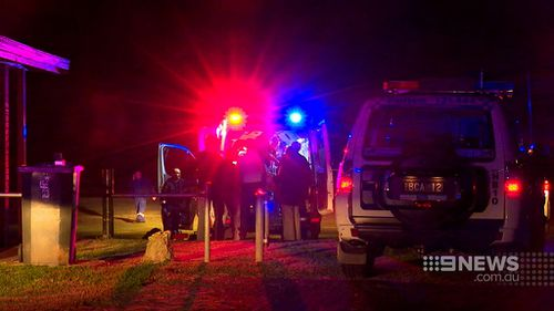 Paramedics attempted to stabilise the teenager before taking him to hospital. (9NEWS)