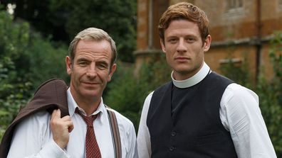 (L - R) Robson Green and James Norton play Cambridgeshire clergymen in Grantchester