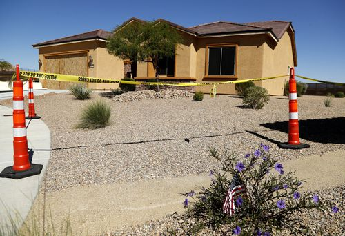 The house where Danley and Paddock lived in Mesquite. (AAP)