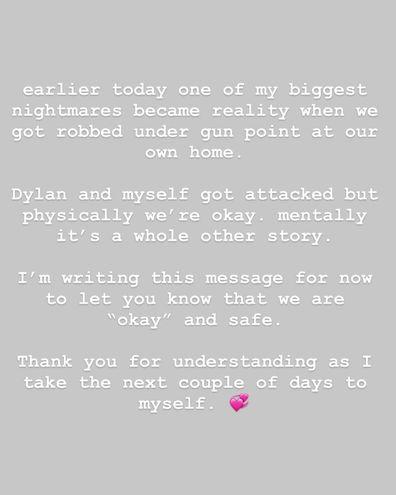 NikkieTutorials, fiancé Dylan Drossaers, robbed, gunpoint, statement