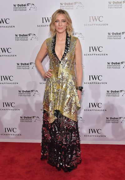 Cate Blanchett in Louis Vuitton at the IWC Filmmakers Awards in Dubai, 2017
