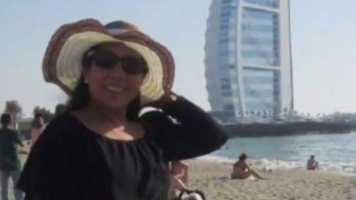 Ms Danely on a Dubai holiday. (9NEWS)