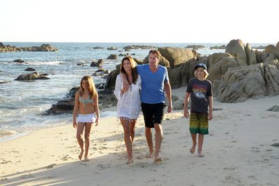 Cindy Crawford and her family spent their holiday in Mexico.