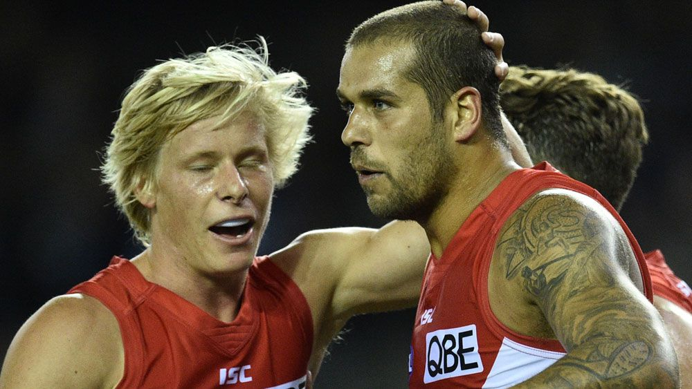 Swans kick away for big win over Blues
