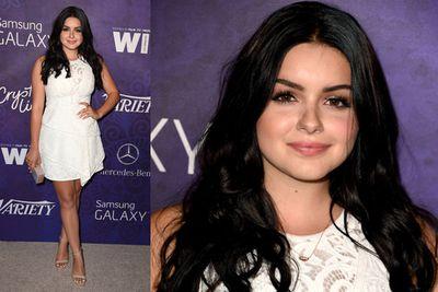 <i>Modern Family</i> star Ariel Winter looked fresh in a cute white dress.