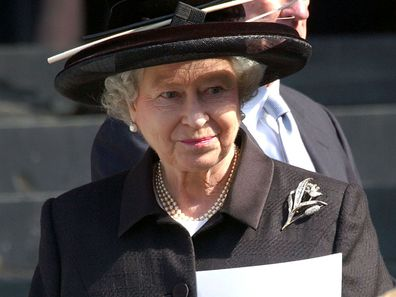 Britain's Queen Elizabeth II attends a memorial service to commemorate victims of the September 11 attacks in 2001 outside St. Paul's Cathedral in London, England.