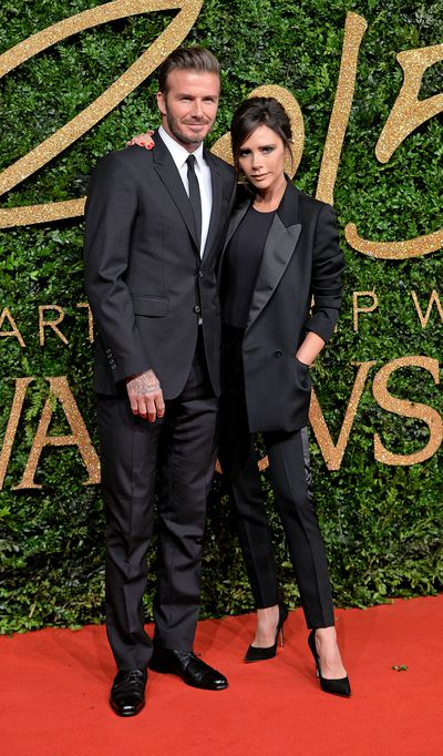 <p><strong>Black Tied Up</strong></p> <p>David  and Victoria Beckham at the British Fashion Awards 2015 at London Coliseum on November 23.</p>