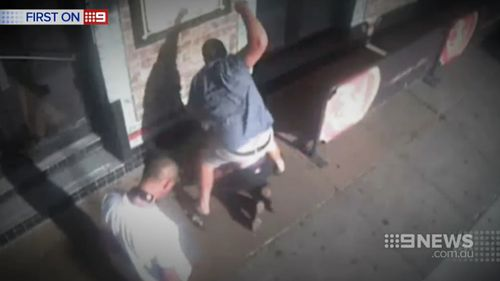 CCTV footage of the incident. (9NEWS)