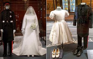Royal wedding: Meghan Markel's wedding dress on display at Windsor Castle