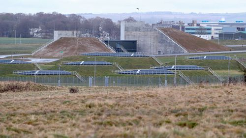 Porton Down, the Ministry of Defence's Defence Science and Technology Laboratory, in Porton Down. (AP).