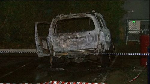 The car was later found burnt out. (9NEWS)