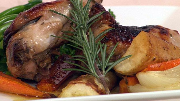 Honey roast chicken - dinner for one