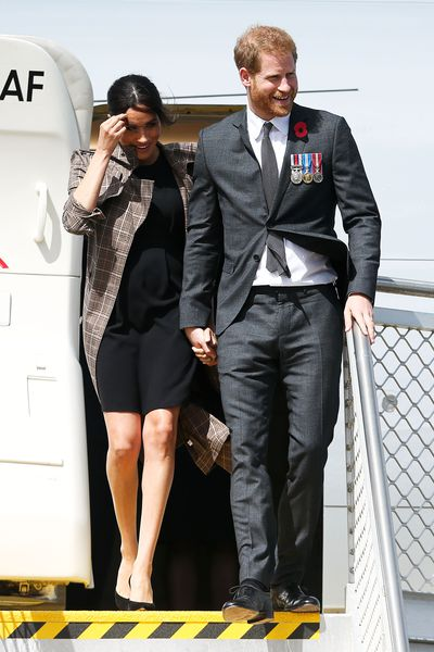 Meghan Markle and Prince Harry arriving in Wellington, New Zealand,October 28, 2018