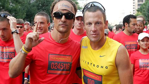Matthew and Lance at the Nike Human Race on August 31, 2008 in Austin, Texas.