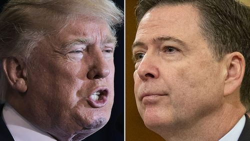 US President Donald Trump and former FBI chief James Comey. (AFP)