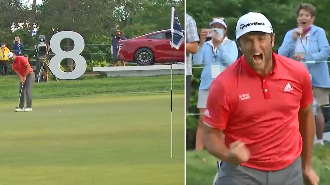 Rahm nails a 66-foot putt in a playoff