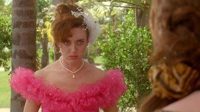 Roz Hammond as Cheryl in the opening scene of Muriel's Wedding