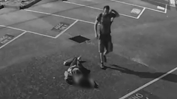 Shocking CCTV footage showed Oscar Villagrana being chased down in an empty car park and assaulted.