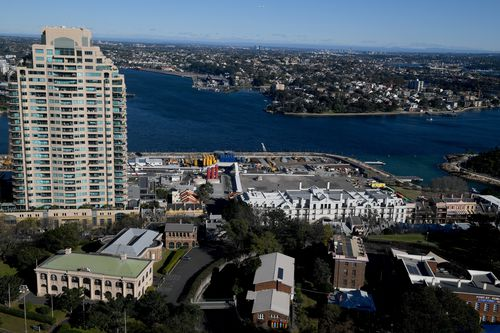 Barangaroo site for the new Crown casino and hotel in Sydney. (AAP)