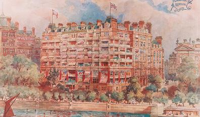 Savoy hotel painting