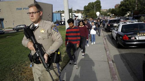 Two were killed and three injured at a shooting at a high school in the Los Angeles suburb of Santa Clarita.